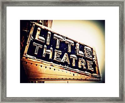 Little Theatre Retro Framed Print by James Aiken