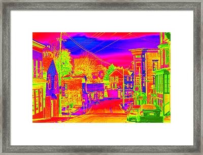 Framed Print featuring the photograph Little Town Come To Life by Cathy Shiflett