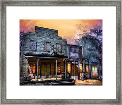 Little Town Framed Print by Joel Payne