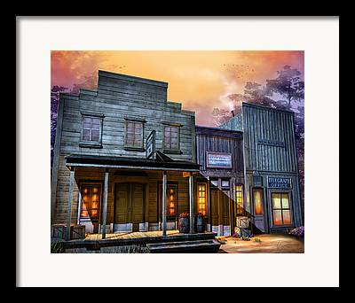 Old West Ghost Towns Framed Prints
