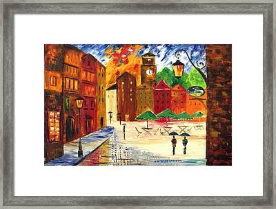 Little Town Framed Print by Mariana Stauffer