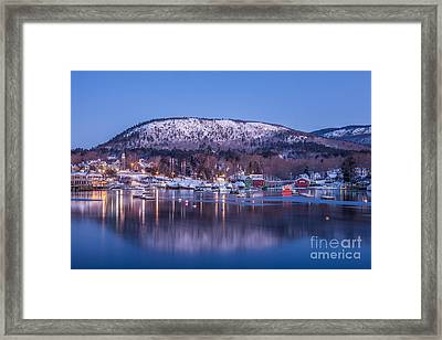 Little Town Of Camden Framed Print by Susan Cole Kelly