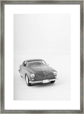 Little Toy Car Black And White Framed Print by Edward Fielding