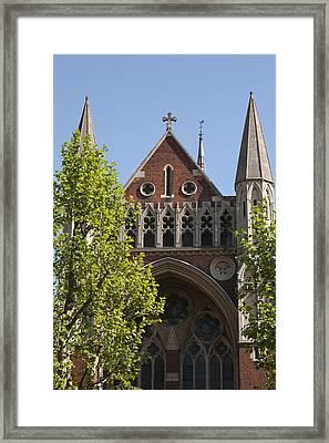 Framed Print featuring the photograph Little Venice Church by Maj Seda