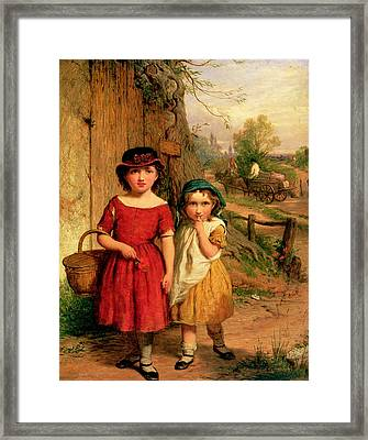 Little Villagers Framed Print by George Smith