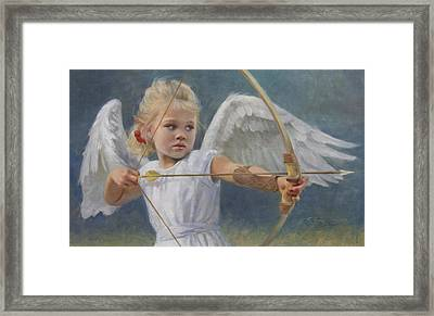 Little Warrior Framed Print by Anna Rose Bain