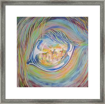 Framed Print featuring the painting Little Warrior by Cathy Long
