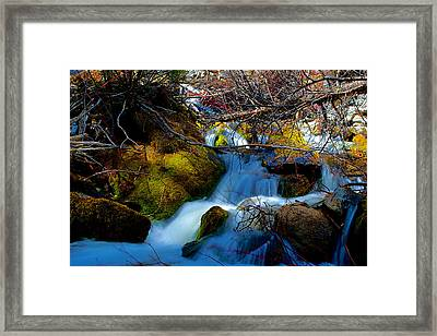 Little Water Fall Framed Print by Kevin Bone