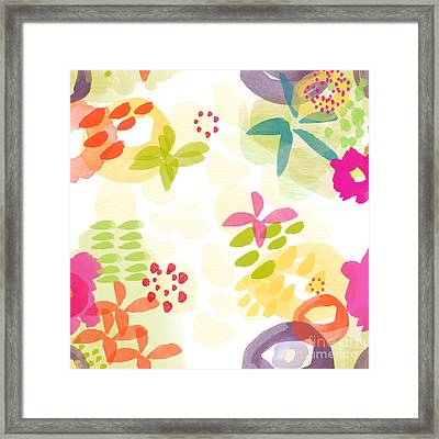 Little Watercolor Garden Framed Print