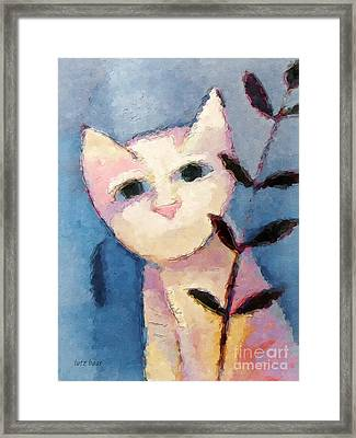 Little White Cat Framed Print