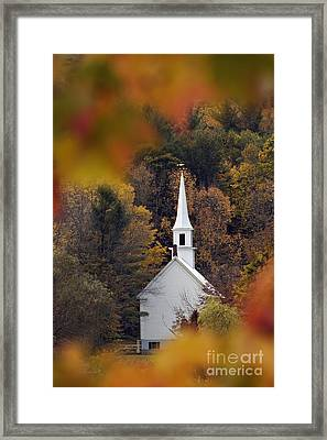 Little White Church - D007297 Framed Print
