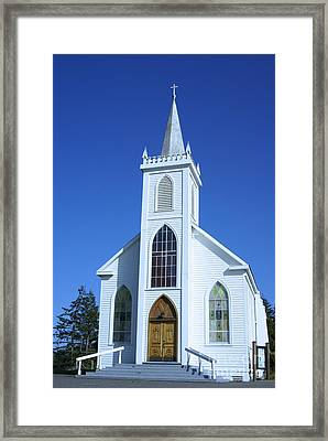 Little White Church In Bodeaga Framed Print