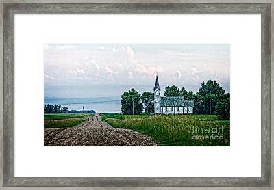 Little White Church Framed Print