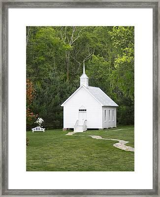 Little White Church Framed Print by Mike McGlothlen