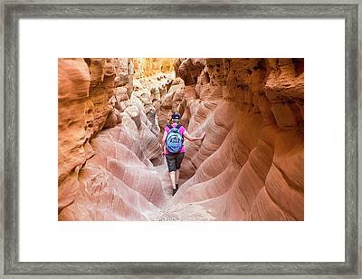 Little Wild Horse Canyon Framed Print by Jim West