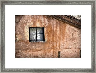 Little Window With Net Curtain On An Old House Framed Print by RicardMN Photography