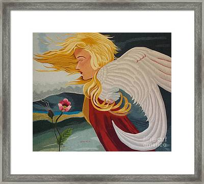 Little Wings Hand Embroidery Framed Print by To-Tam Gerwe