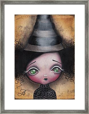 Little Witch Framed Print by  Abril Andrade Griffith