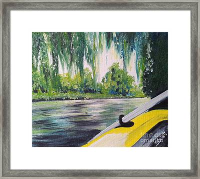 Little Yellow Boat Framed Print