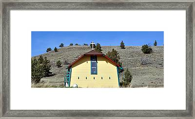 Little Yellow Church Framed Print by Heather L Wright