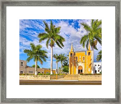 Little Yellow Church In Barrio Santa Ana Framed Print
