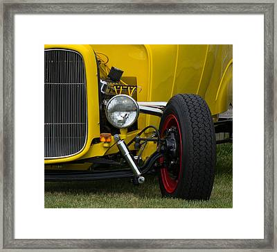 Little Yellow Coupe In Flushing Michigan Framed Print