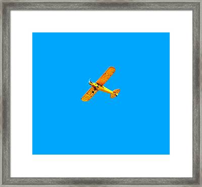 Framed Print featuring the photograph Little Yellow Flyer Plane by Tracie Kaska