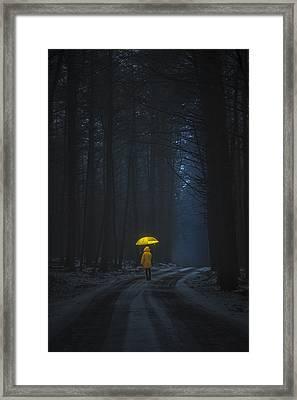 Little Yellow Riding Hood Framed Print