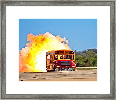 Late For School Framed Print