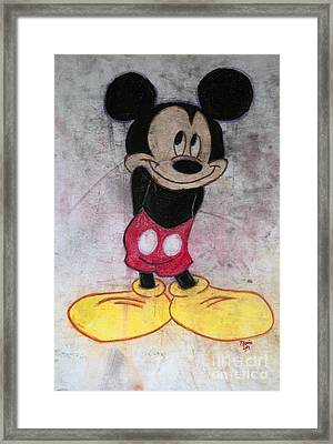 Little Yellow Shoes Framed Print by Thomas Luca
