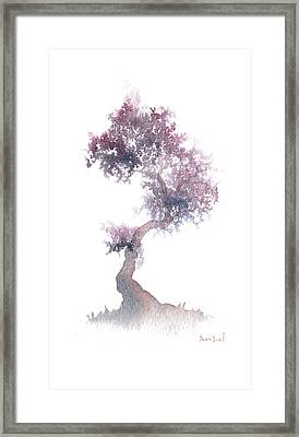 Framed Print featuring the painting Little Zen Tree 1508 by Sean Seal