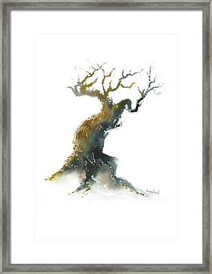 Framed Print featuring the painting Little Zen Tree 1582 by Sean Seal