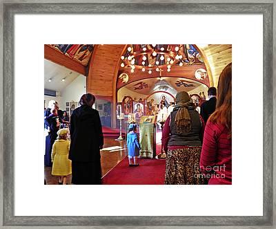 Liturgy Framed Print