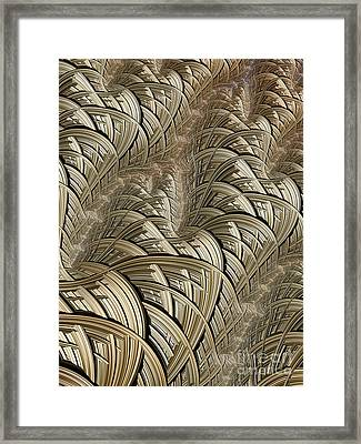 Litz Wire Abstract Framed Print by John Edwards