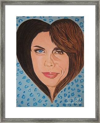 Framed Print featuring the painting Liv And Steven Tyler Painting by Jeepee Aero