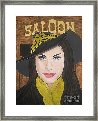 Framed Print featuring the painting Liv Tyler Painting by Jeepee Aero