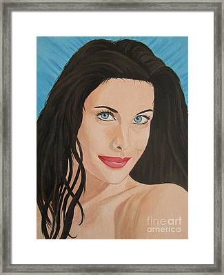Framed Print featuring the painting Liv Tyler Painting Portrait by Jeepee Aero