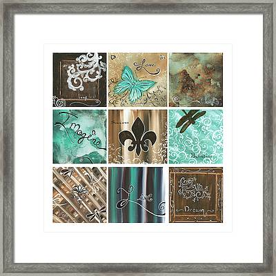 Live And Love By Madart Framed Print