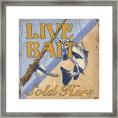 Live Bait Framed Print