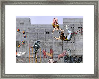 Live Circus At Heaven's Door Framed Print by Maria Jesus Hernandez