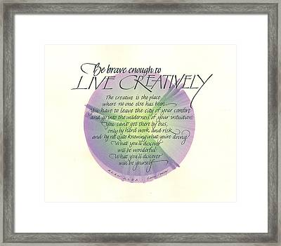Live Creatively Framed Print