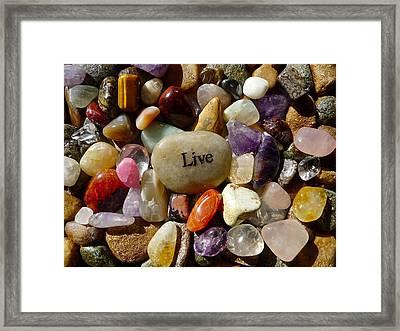 Live Framed Print by Denise Mazzocco