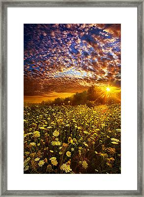 Live Every Moment Framed Print by Phil Koch