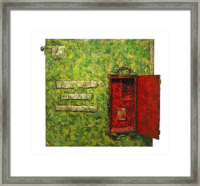 Live Green Box Framed Print