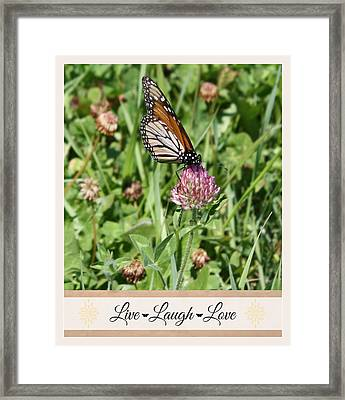 Live Laugh Love Butterfly Framed Print