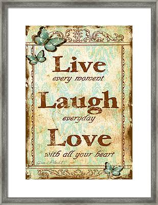 Live-laugh-love Framed Print