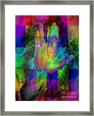 Live Long And Prosper 20150302v2 Color Squares Framed Print by Wingsdomain Art and Photography