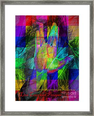 Live Long And Prosper 20150302v2 Color Squares With Text Framed Print by Wingsdomain Art and Photography
