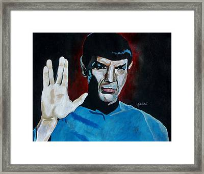 Live Long And Prosper Framed Print by Jeremy Moore