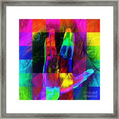 Live Long And Prosper Spock 20150302v3 Color Squares Sq Framed Print by Wingsdomain Art and Photography
